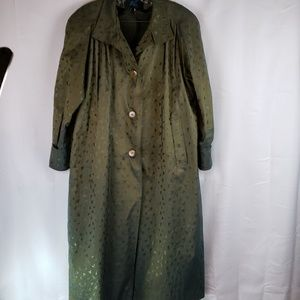 ACV trench coat M/L green blue